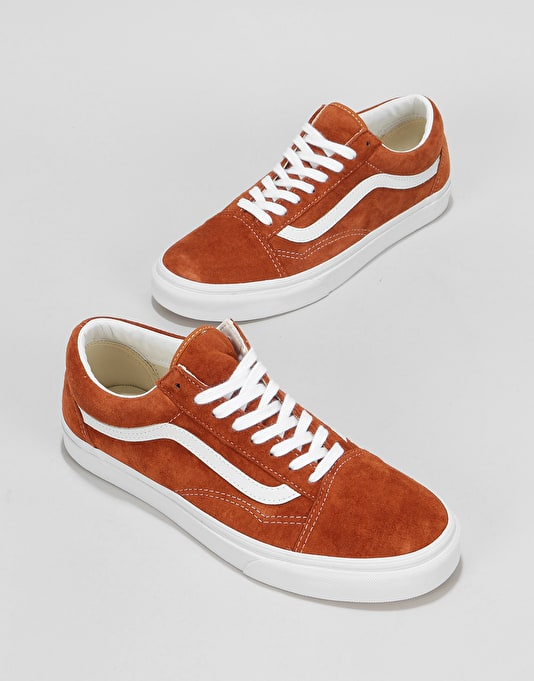 Vans Old Skool Skate Shoes - (Pig Suede) Leather Brown
