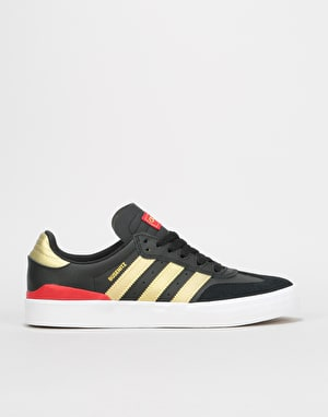 Adidas Busenitz Vulc RX Skate Shoes - Core Black/Gold Metallic/Scarlet
