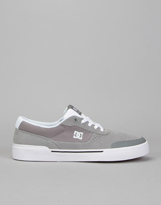 DC Switch Plus S Skate Shoes - Grey/White