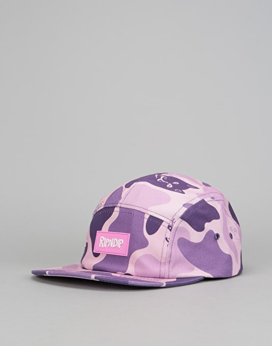 RIPNDIP Nerm Camo 5 Panel Cap - Purple Camo