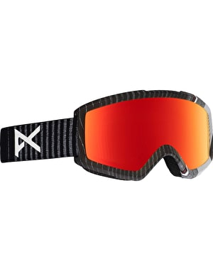 Anon Helix 2.0 2018 Snowboard Goggles - Stryper/Red Solex