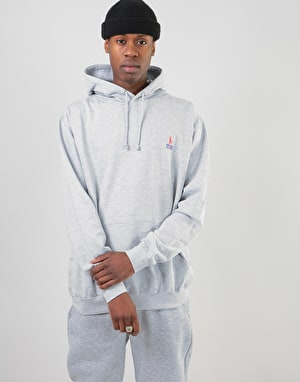 The Story Collective Crown Embroidered Pullover Hoodie - Grey