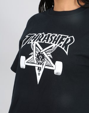 Thrasher Womens Skategoat Oversized T-Shirt - Black