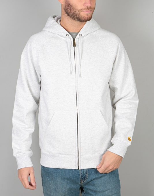 Carhartt Hooded Chase Jacket - Ash Heather/Gold