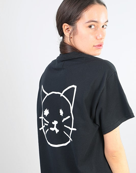 Route One Womens Pussy Oversized T-Shirt - Black