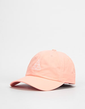 HUF Triple Triangle Curved Visor Cap - Coral Haze