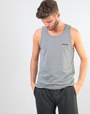 Patagonia P-6 Logo Tank - Gravel Heather