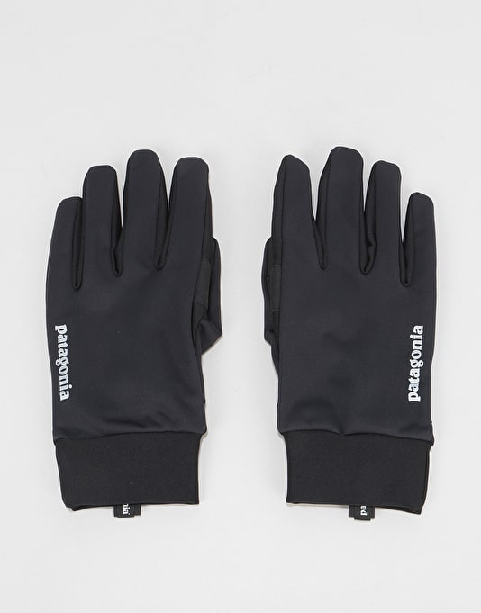 4824319646b Patagonia Wind Shield Gloves - Black
