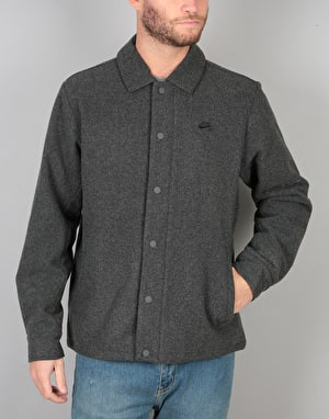 Nike SB Wool Coaches Jacket - Charcoal Heather/Black