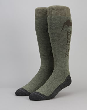 Burton Emblem Snowboard Socks - Olive Branch Heather