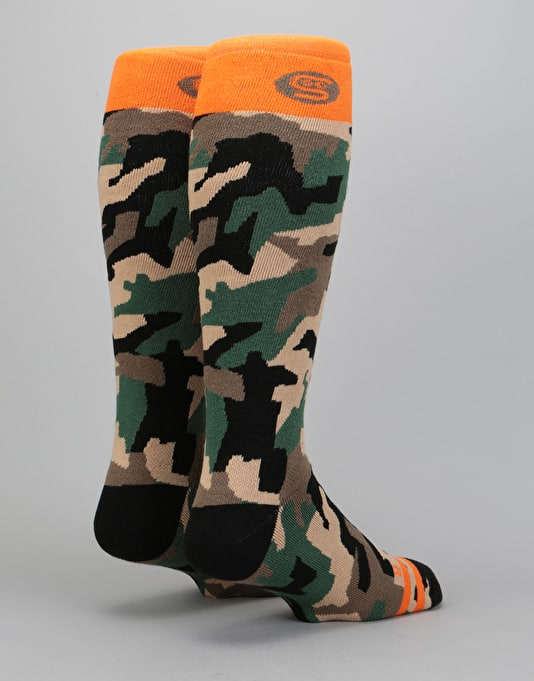 Stinky Heavyweight 2018 Snowboard Socks - Camo