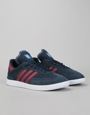 Adidas Samba ADV Skate Shoes - Collegiate Navy/Burgundy/White