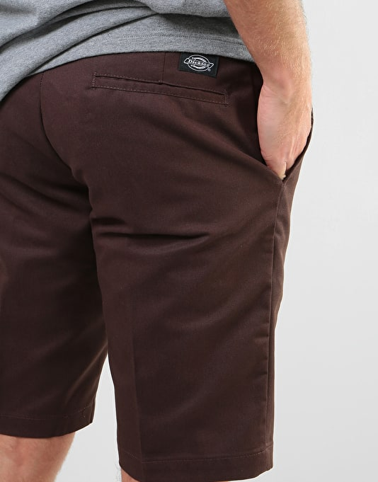 """Dickies 11"""" Industrial Work Shorts (67 Collection) - Chocolate Brown"""