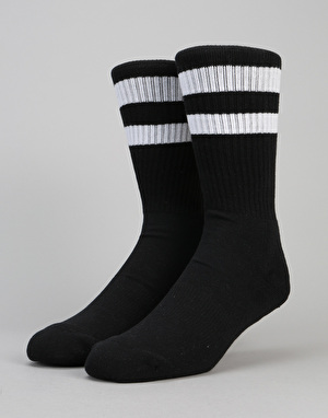 Route One Classic Crew Socks 2 Pack - Black/Black