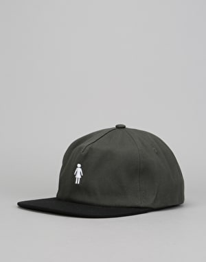 Girl Micro OG Strapback Cap - Grey/Black