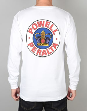 Powell Peralta Supreme L/S T-Shirt - White
