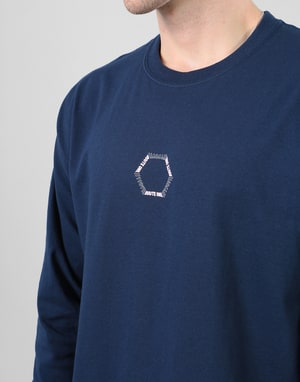 Route One Vortex LS T-Shirt - Navy/Pink