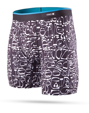 Stance Phil Frost Poly Blend Boxer Shorts - Black