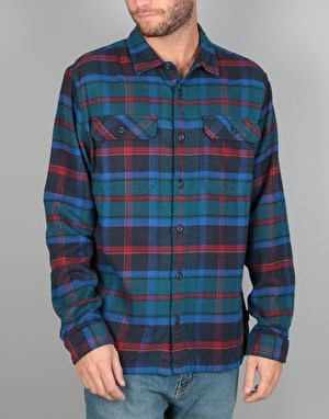 Patagonia Fjord Flannel Shirt- Buckstop Plaid/Big Sur Blue