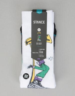 Stance Skate Legends Matt Hensley Socks – White