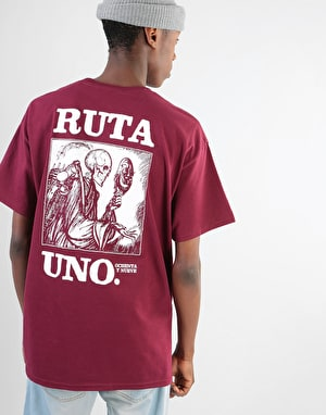 Original Ruta Uno T-Shirt - Burgundy