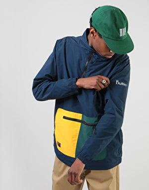 Butter Goods Upwind Nylon 1/4 Zip - Navy