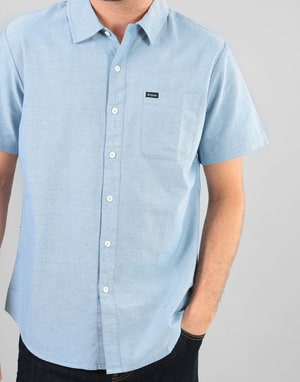 Brixton Charter Oxford S/S Woven Shirt - Light Blue Chambray