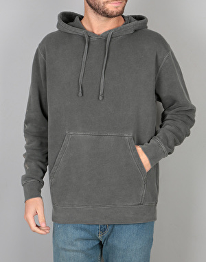 Welcome Tali-Scrawl Pigment-Dyed Pullover Hoodie  - Black/Shift
