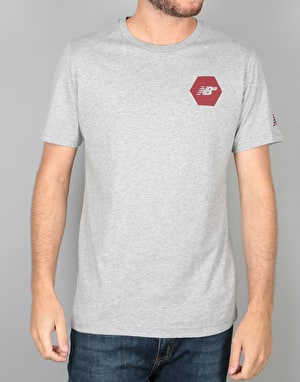 New Balance Numeric Hex T-Shirt - Heather/Burgundy