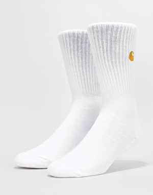 Carhartt Chase Socks - White/Gold