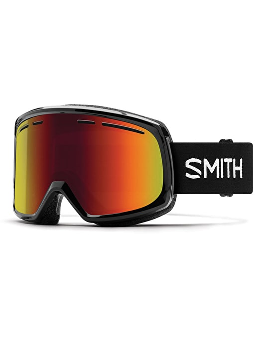 Smith Range 2018 Snowboard Goggles - Black/Red Sol-X Mirror
