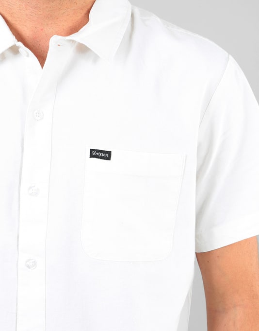 Brixton Charter Oxford S/S Woven Shirt - Off White