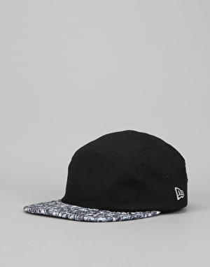 New Era Speckled 5 Panel Cap - Black/Graphite/White