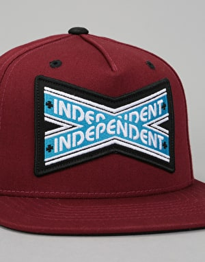 Independent Intersect Snapback Cap - Burgundy/Black