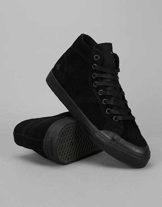 Emerica Indicator High Skate Shoes - Black/Black/Black