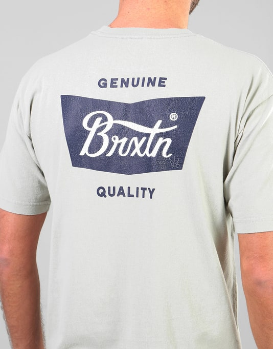 Brixton Stith T-Shirt - Grey/Navy