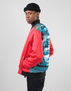 HUF Space Race MA-1 Reversible Jacket - Red