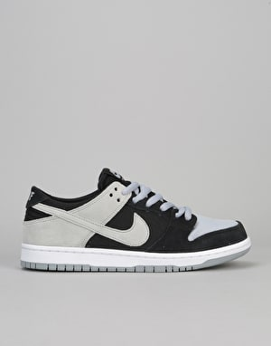 Nike SB Zoom Dunk Low Pro Skate Shoes - Black/Wolf Grey-White-White
