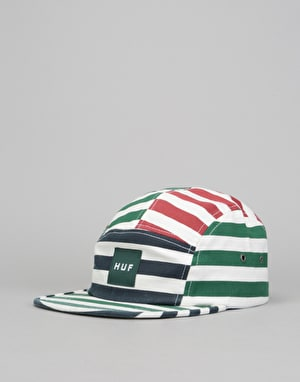 HUF Kennedy Box Logo Volley 5 Panel Cap - Multi