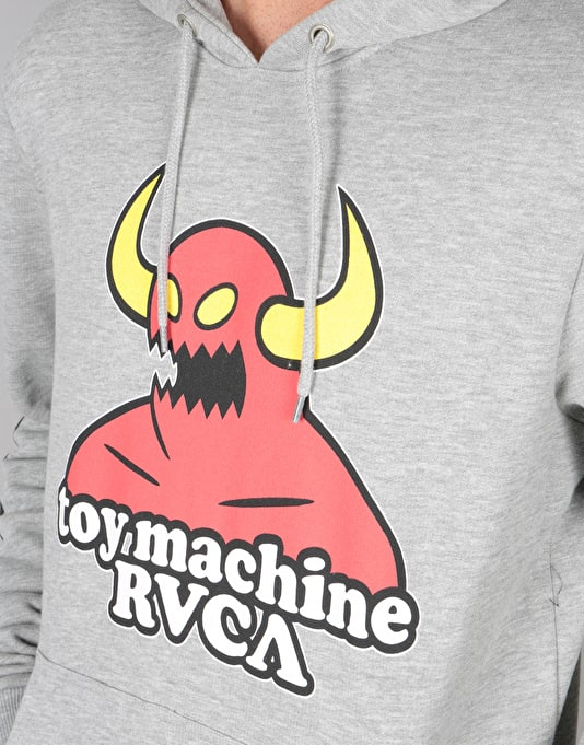 RVCA x Toy Machine Pullover Hoodie - Athletic Heather
