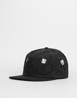 HUF x Felix Doing Things 6 Panel Cap - Black