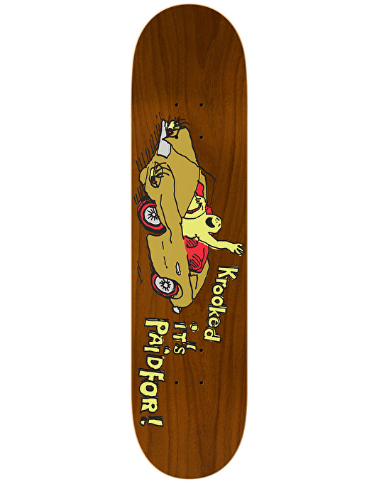 Krooked Sebo Paid For Love Skateboard Deck - 8.06""