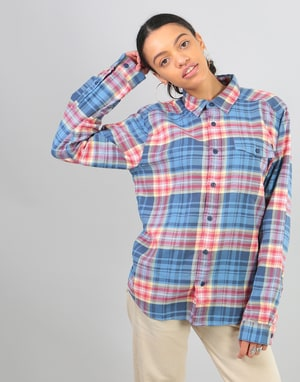 Patagonia Womens L/S Fjord Oversized Flannel Shirt - Railroad Blue