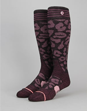 Stance Queen Backcountry Snowboard Socks - Wine