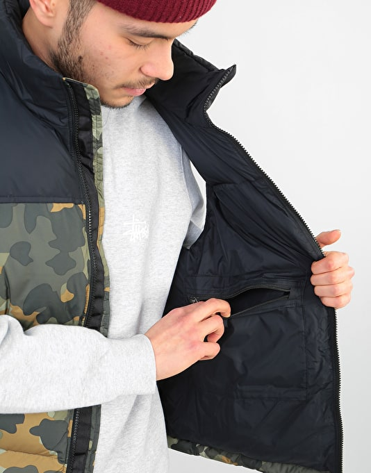 The North Face 1996 Retro Nuptse Vest - Taupe Green Camo
