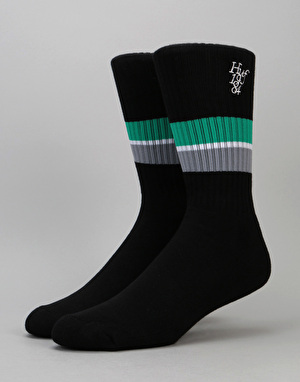 HUF 1984 Stripe Crew Socks - Black