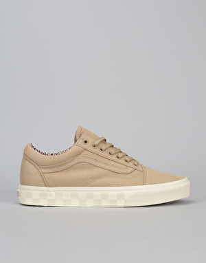 Vans Old Skool DX Skate Shoes - (Twill) Cornstalk