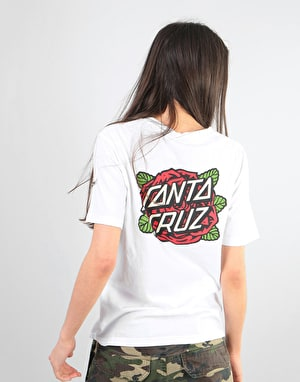 Santa Cruz Rose Womens T-Shirt - White