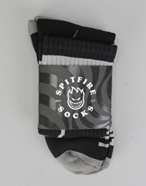 Spitfire Heads Up Socks - Black/Grey