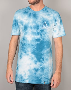 HUF Washed Triple Triangle T-Shirt - Blue